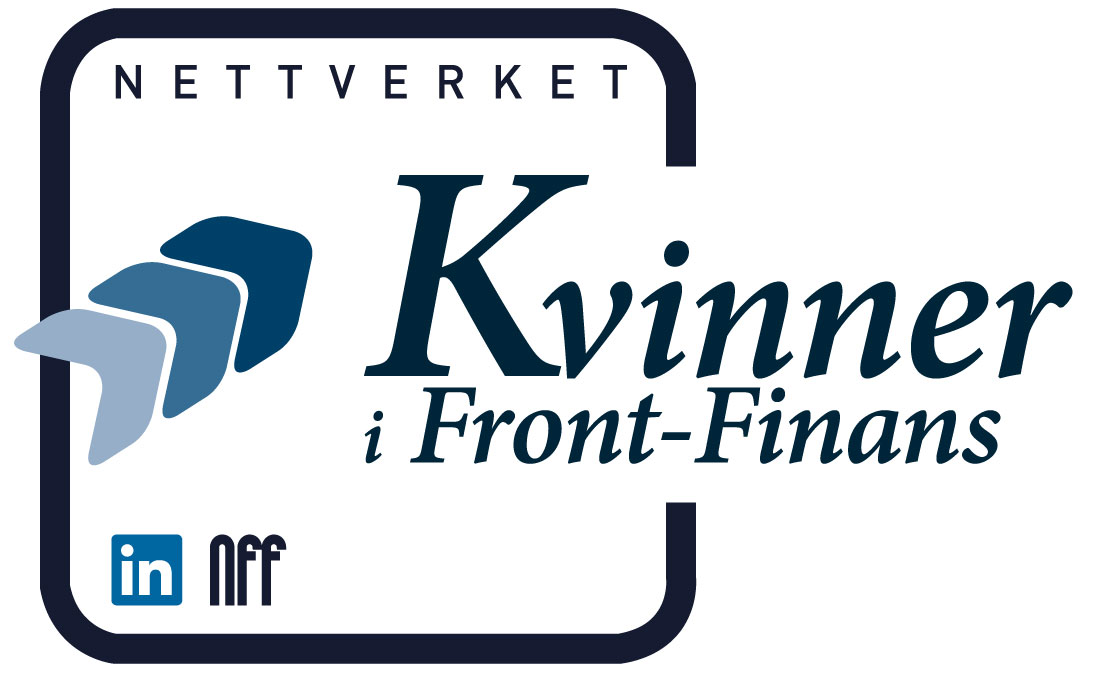 Logo nettverket Kvinner i Front-Finans - inn, opp og fram